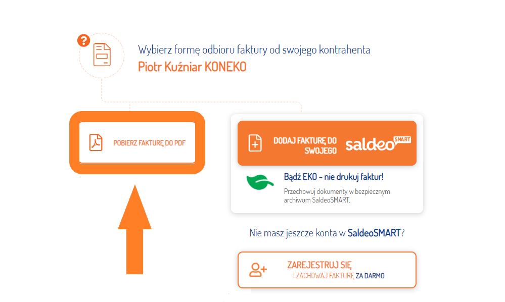 Informacja o uruchomieniu systemu księgowego opartego o SaldeoSMART. Instrukcja pobierania faktur